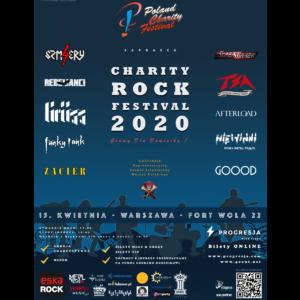 Plakat Koncertowy Charity Rock Festival 2020 29,5 x 41,5 cm
