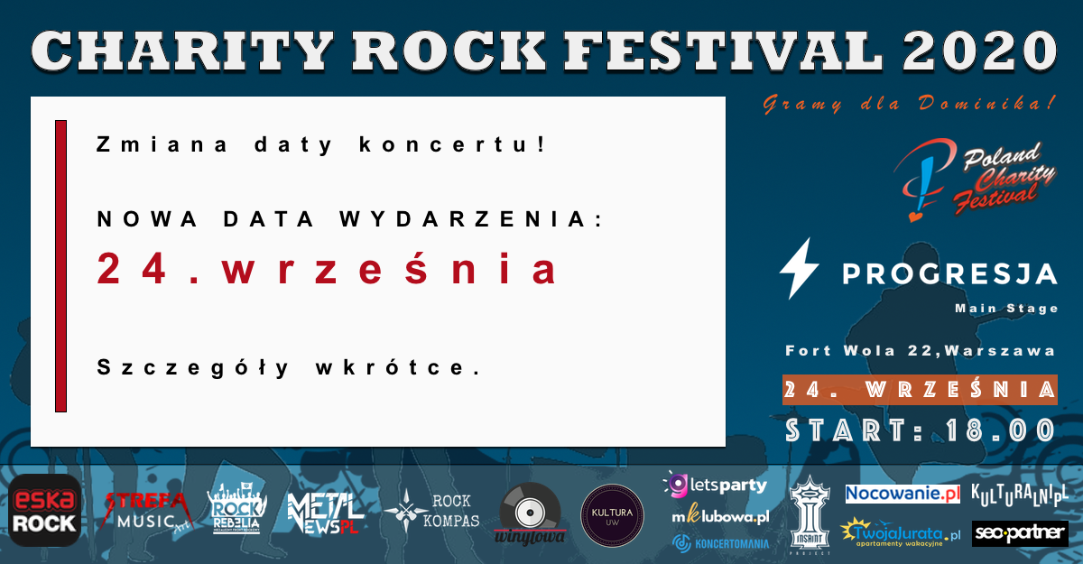 Read more about the article Zmiana daty Charity Rock Festival 2020